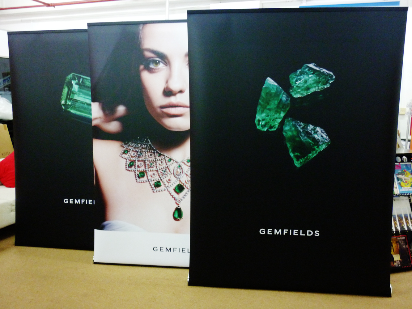 Deluxe150 Pull Up Banner Stands for Gemfields