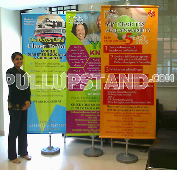 Clip Banner Stand for Dyslexia Association of Singapore