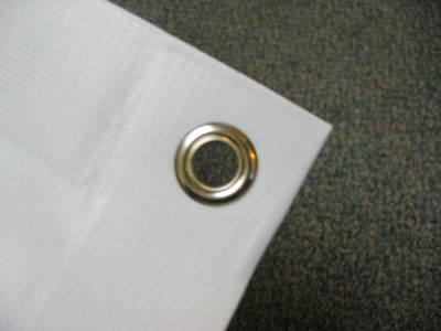 Eyelets for PVC banners