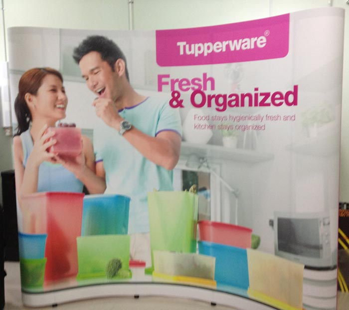 Pop Up Stand 3x3 (3 Curved) - Tupperware