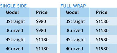 Pop Up Pricing Chart for Reprinting