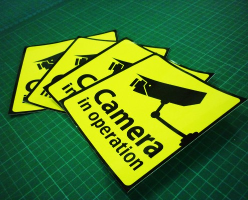 Sticker Printing with Die Cut Shape - CCTV