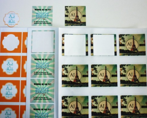 Sticker Printing with Die Cut Shape - Various