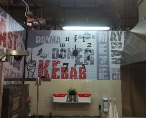 Wall Sticker Decoration for Food Stall