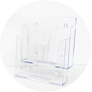 Acrylic Brochure Holder - A4 2 tier