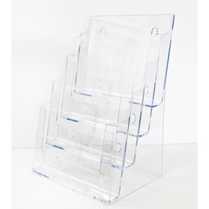 Acrylic Brochure Holder - A4 4 tier