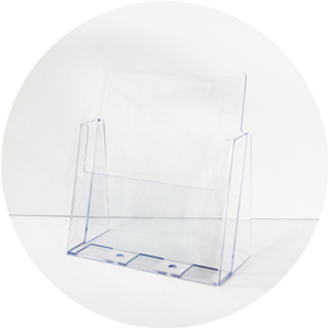 Acrylic Brochure Holder - A4 single tier