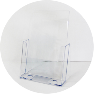 Acrylic Brochure Holder - A5 single tier