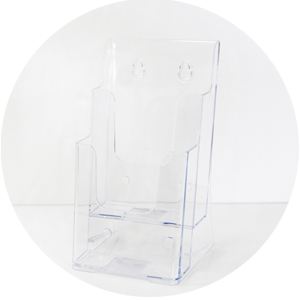 Acrylic Brochure Holder - DL 2 tier