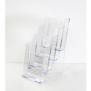 Acrylic Brochure Holder - DL 4 tier