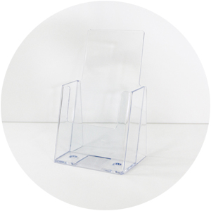 Acrylic Brochure Holder - DL single tier