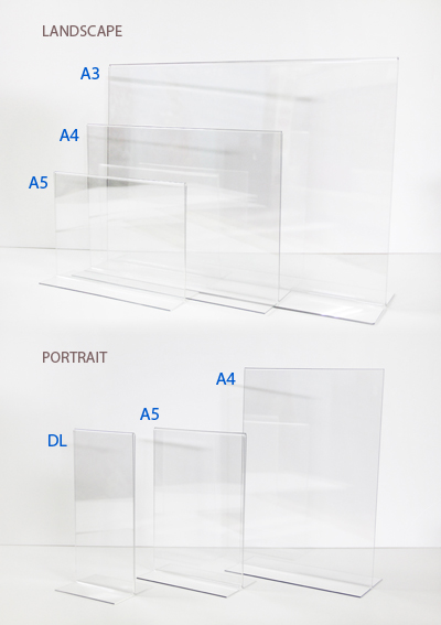 Acrylic T Stand - various sizes