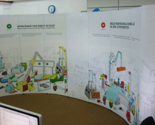 Pop Up Stand Joined to make a Large Graphic Wall