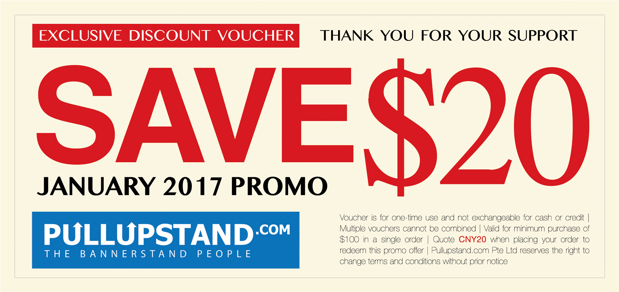 January 2017 PROMO - $20 OFF VOUCHER - Pullupstand com
