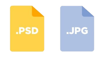 Save as PSD and JPEG file
