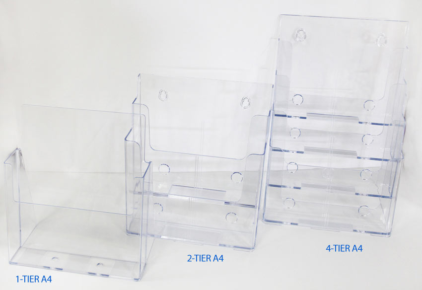 A4 brochure holder acrylic