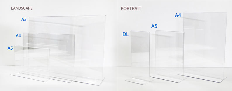 T shaped acrylic stands