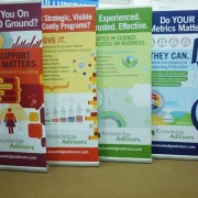 Pull Up Banner Stands for Knowledge Advisor