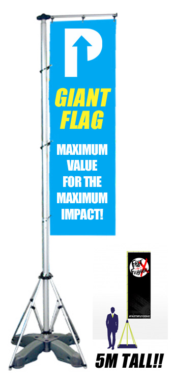 giant flag pole stand