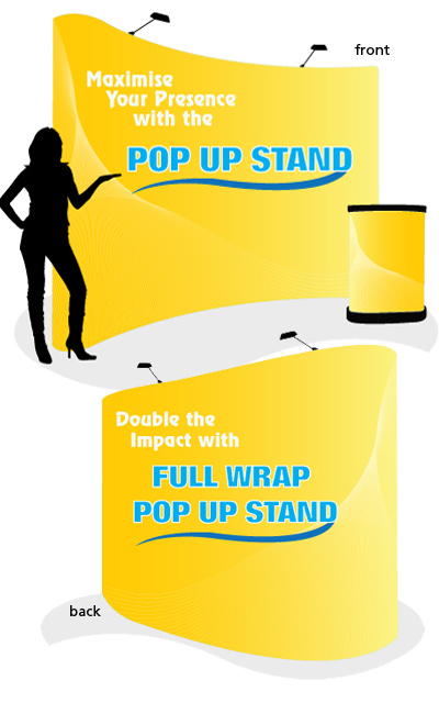 Pop Up Stand Full Wrap Premium