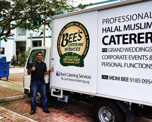 Sticker Mural for Bees Catering Lorry