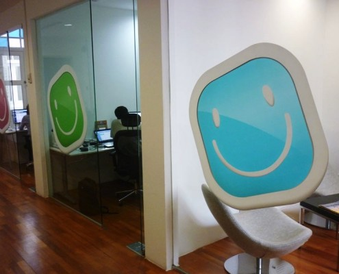 Sticker Murals on Office Glass Partition