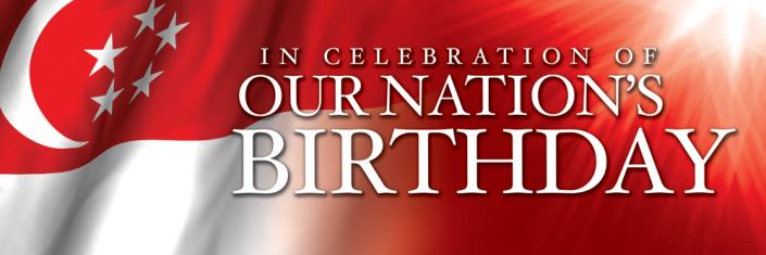 National Day Singapore Banner Design #02