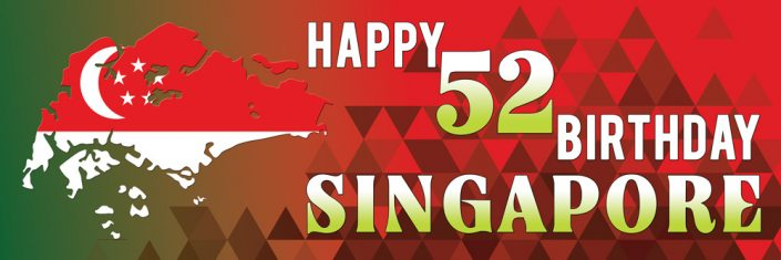 National Day Singapore Banner Design #10