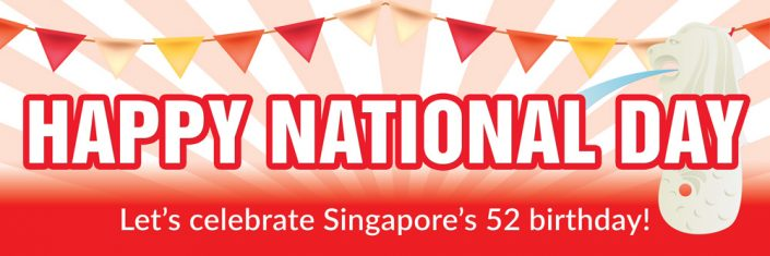 National Day Singapore Banner Design #11