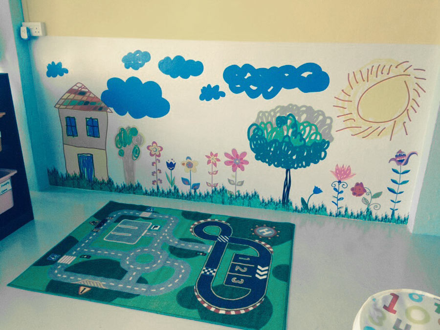 large murals - sticker printing and installation for wall mural