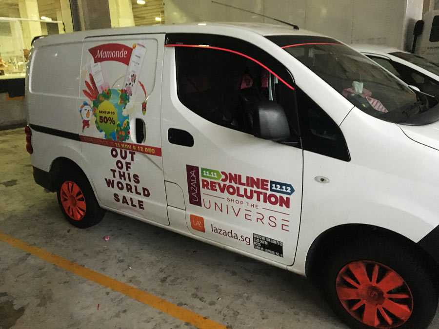 Van stickers for icommerce lazada