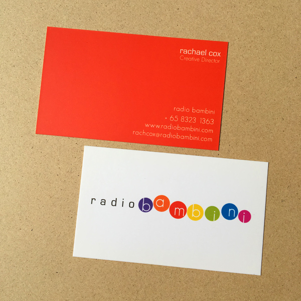 Radio Bambini - Namecard Design and Printing by Pullupstand.com The Banner Stand People
