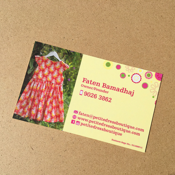 Petite Dress Boutique - Namecard Design and Printing by Pullupstand.com The Banner Stand People