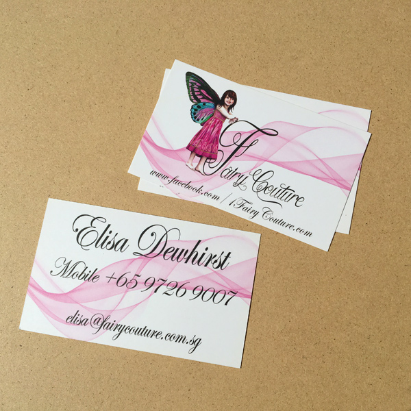 Fairy Couture - Namecard Design and Printing by Pullupstand.com The Banner Stand People